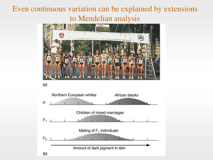Even continuous variation can be explained by extensions