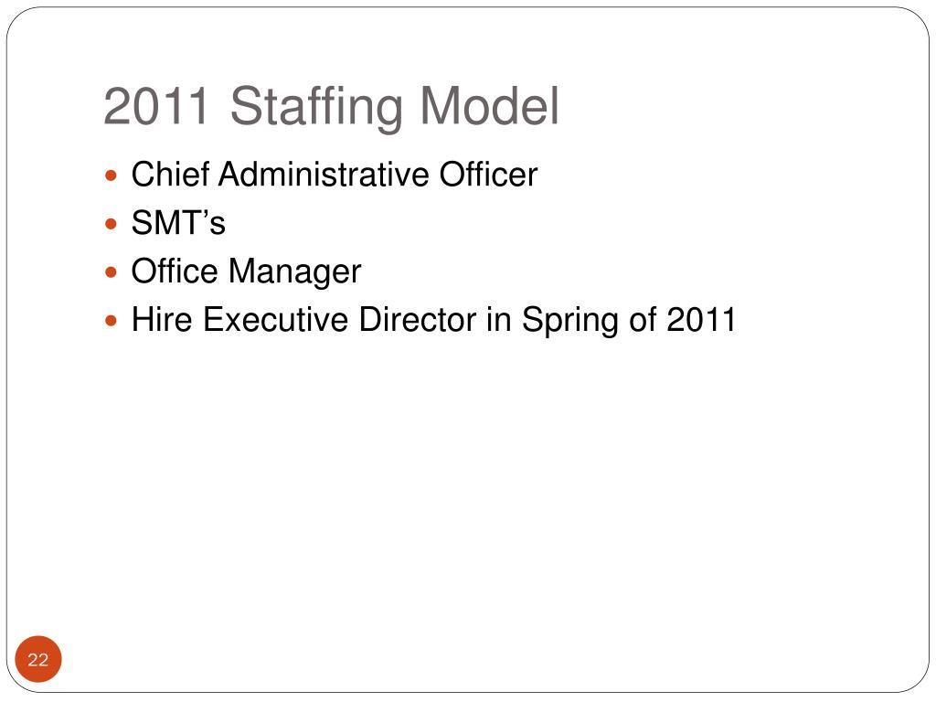 2011 Staffing Model