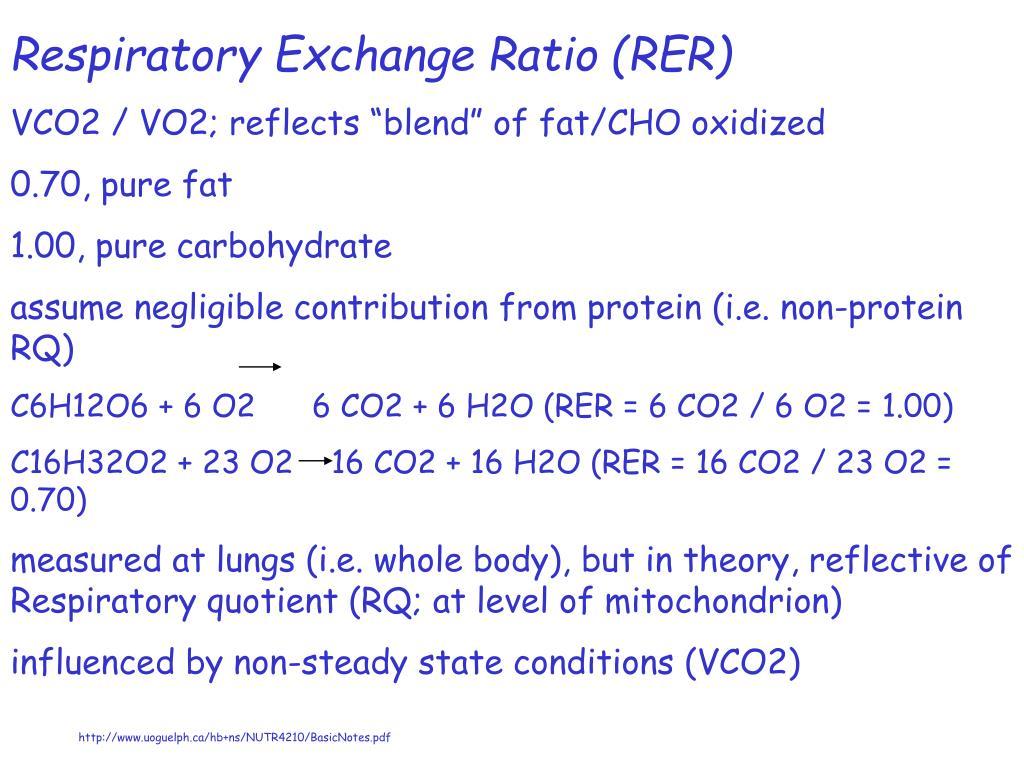 Respiratory Exchange Ratio (RER)