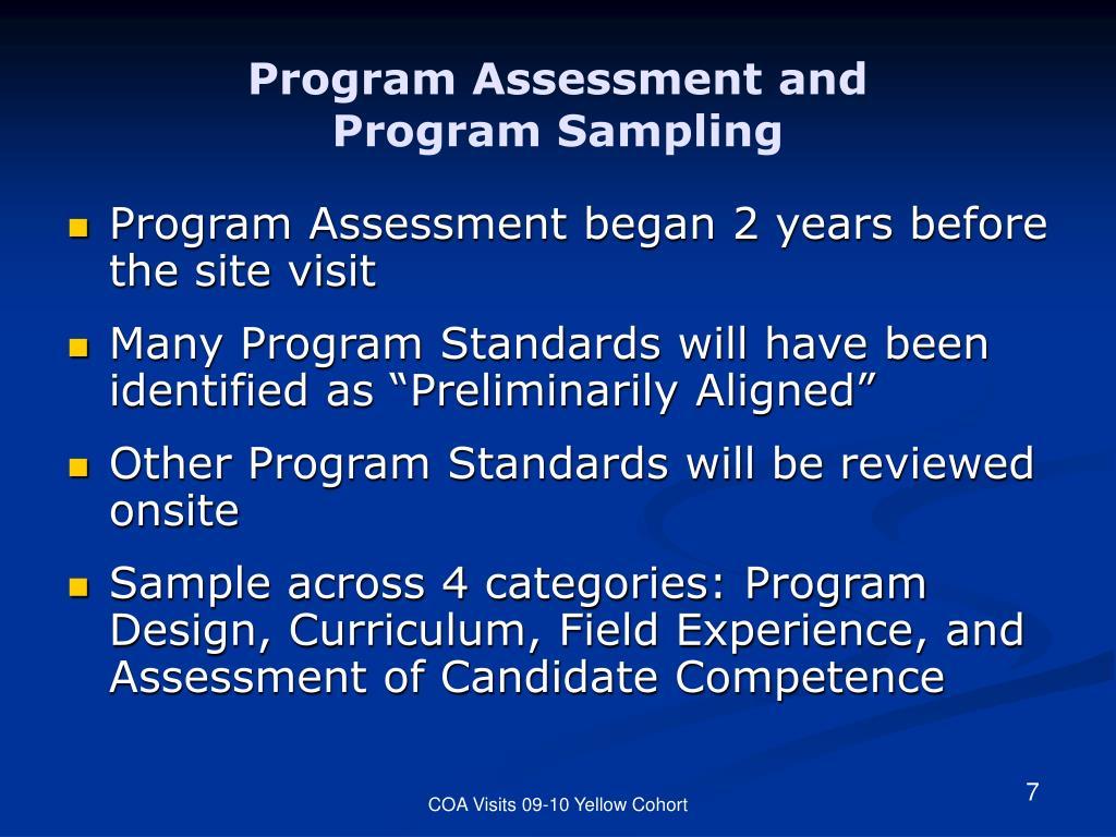 Program Assessment and