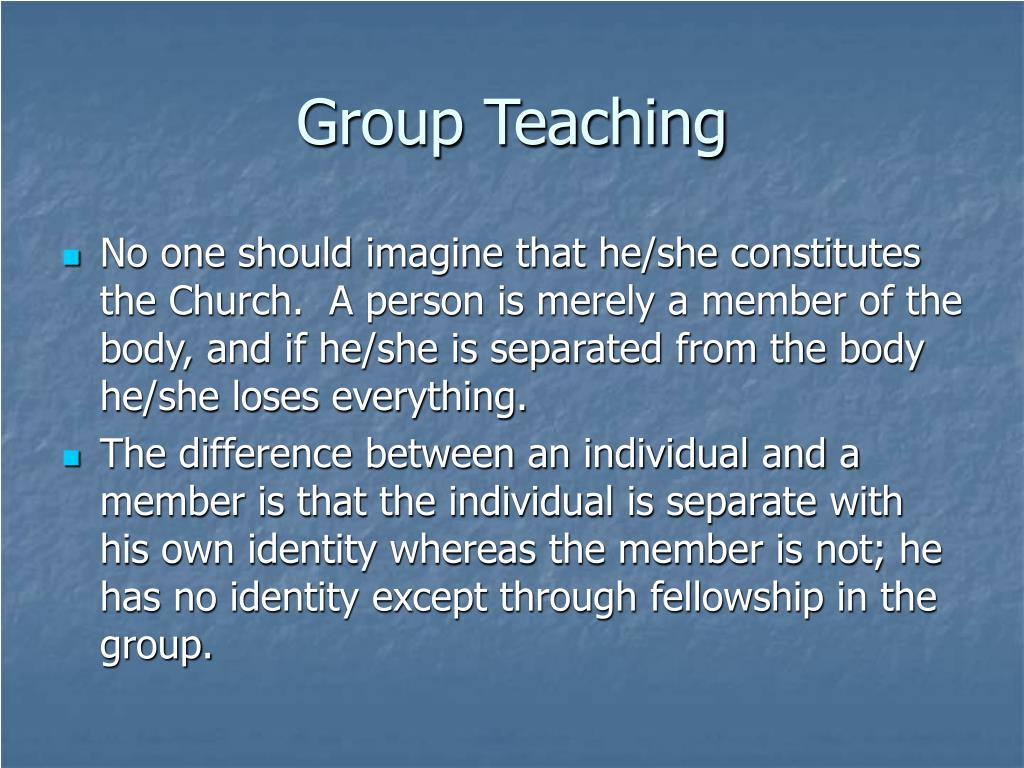 Group Teaching