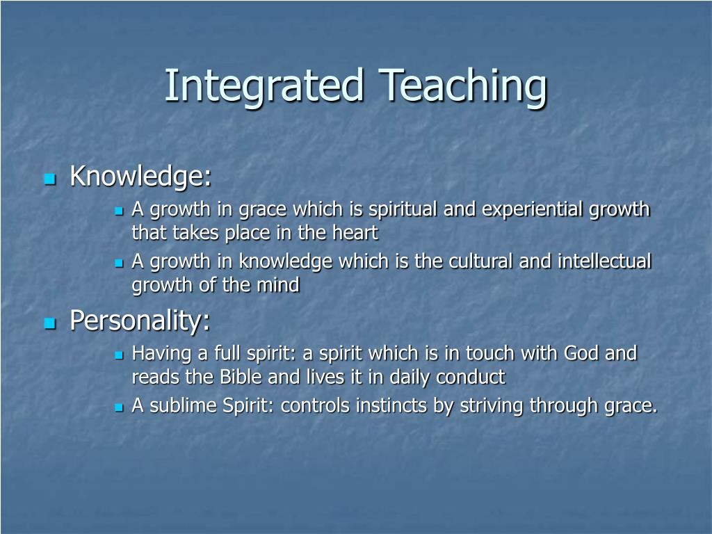 Integrated Teaching