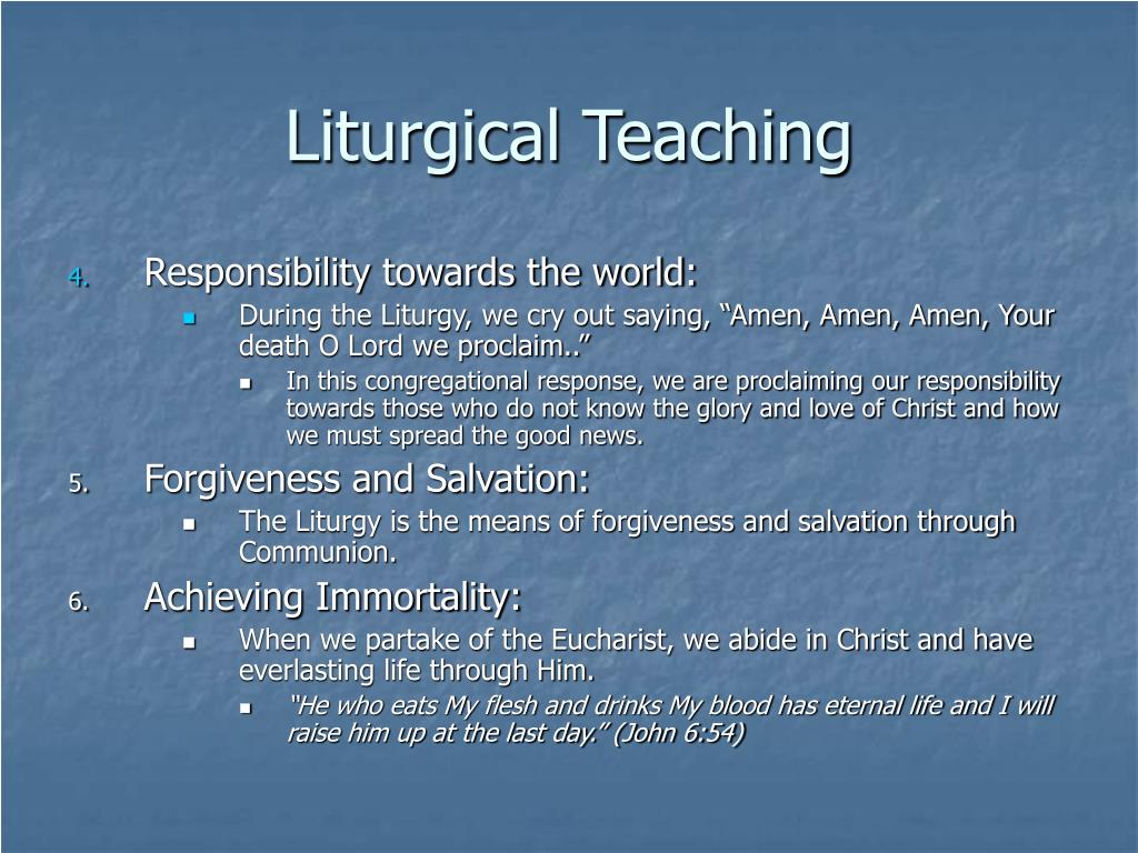 Liturgical Teaching