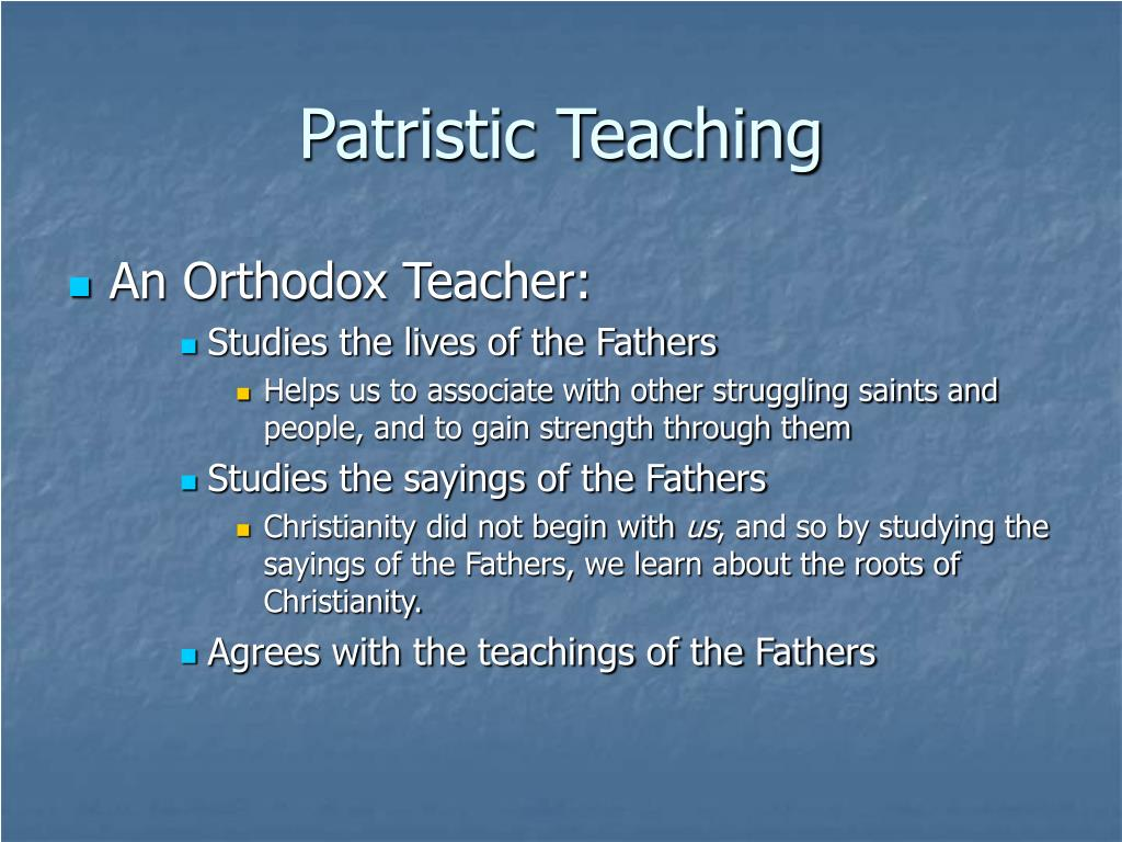 Patristic Teaching