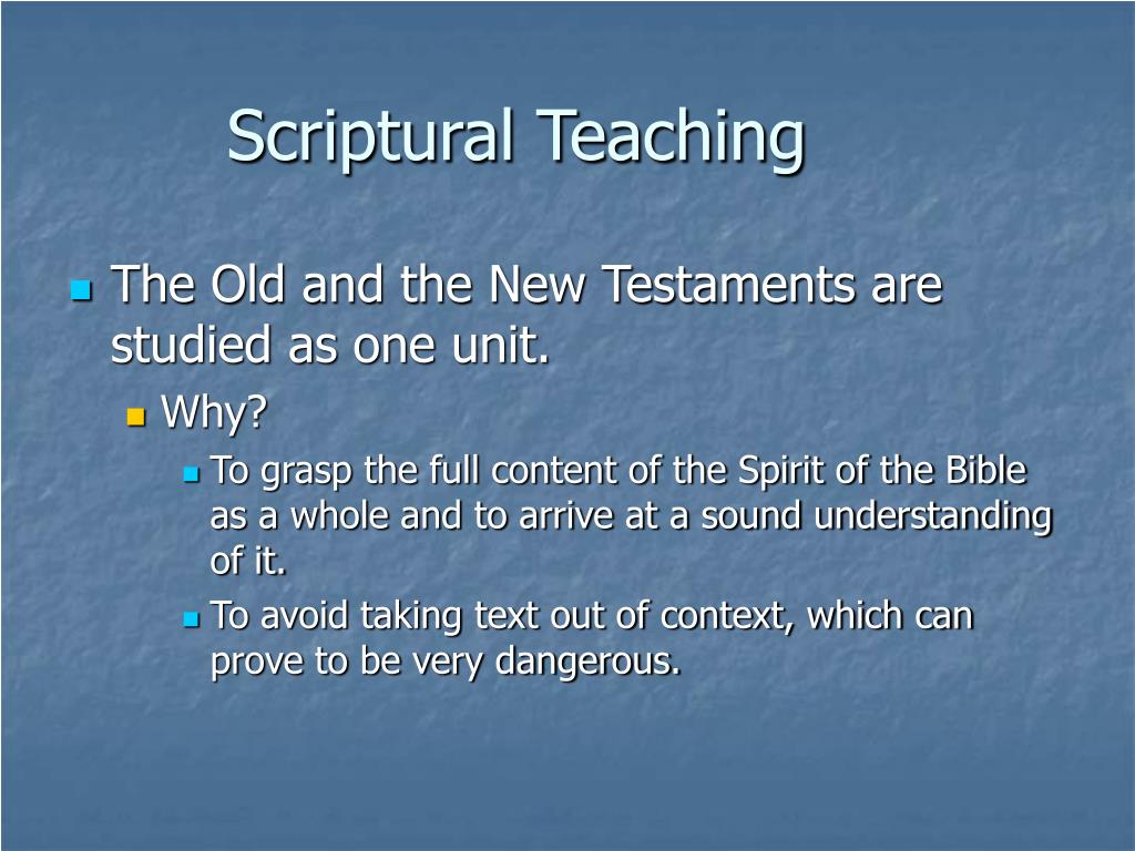 Scriptural Teaching