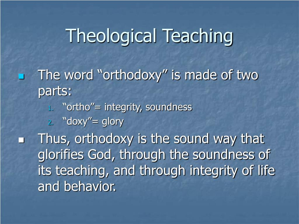 Theological Teaching