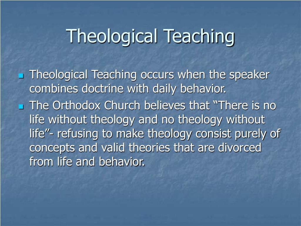 Theological Teaching