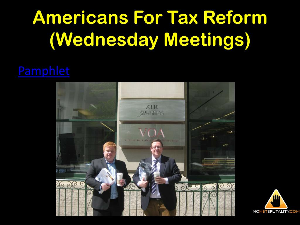 Americans For Tax Reform (Wednesday Meetings)