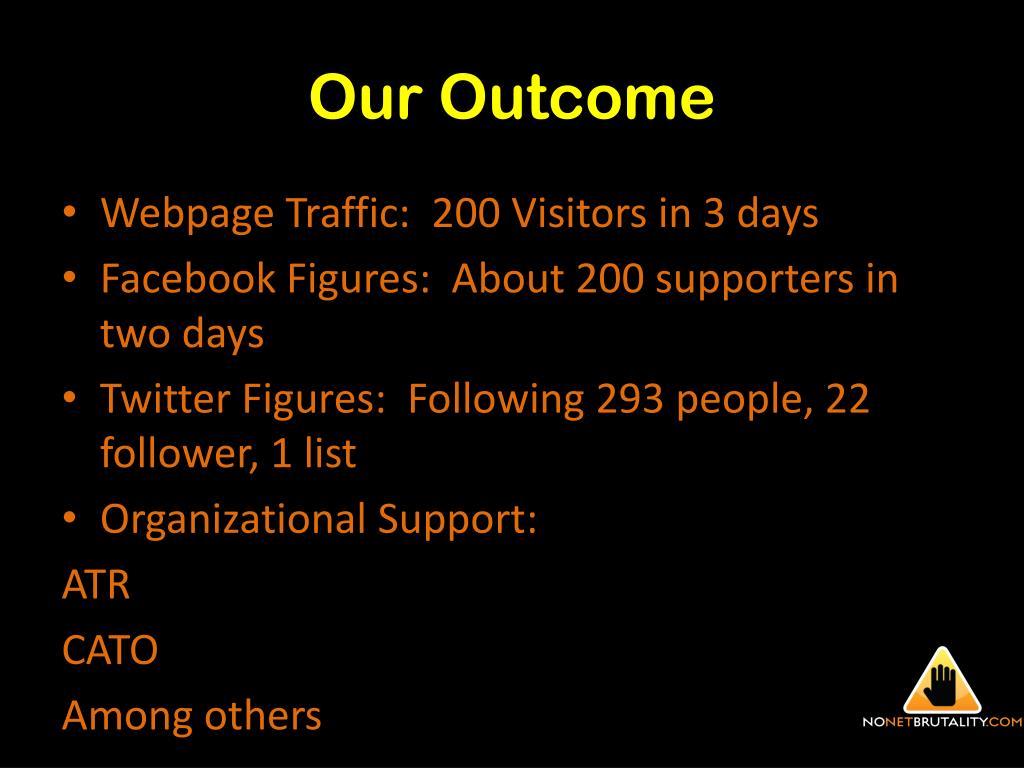 Our Outcome