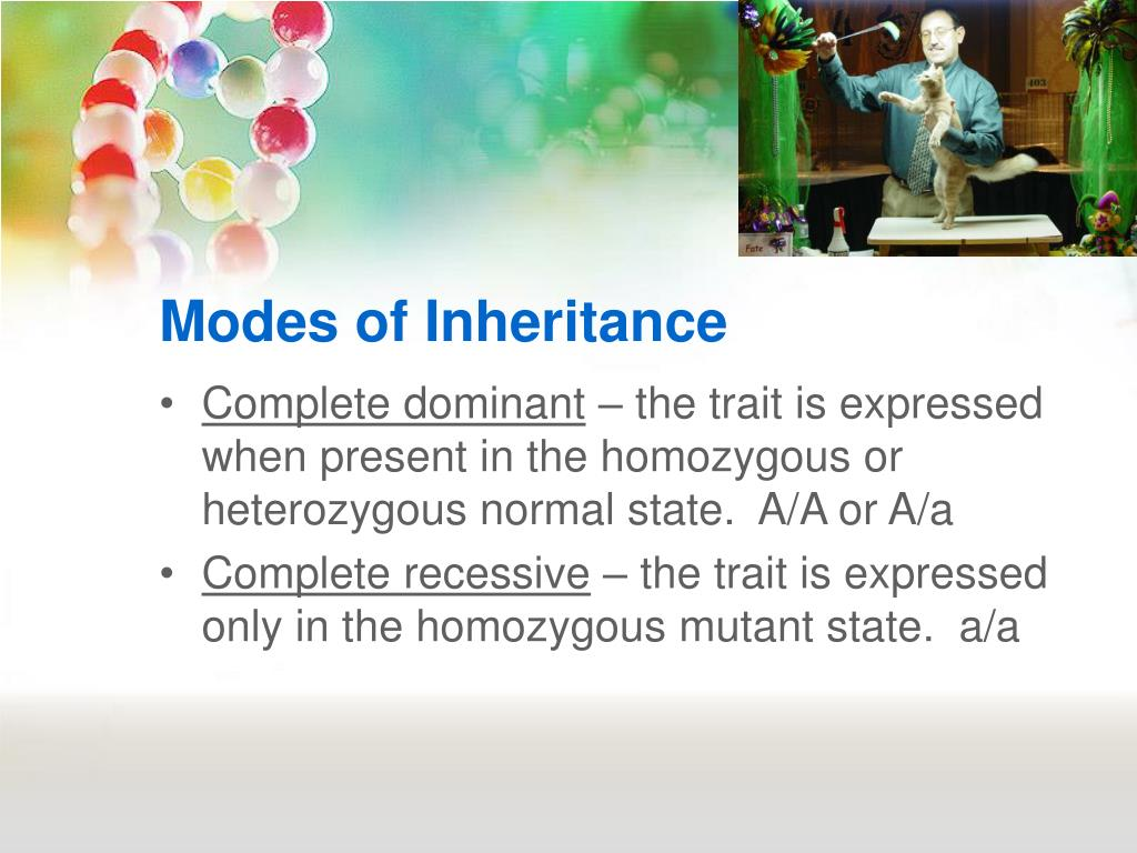 Modes of Inheritance