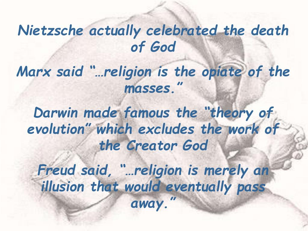 Nietzsche actually celebrated the death of God