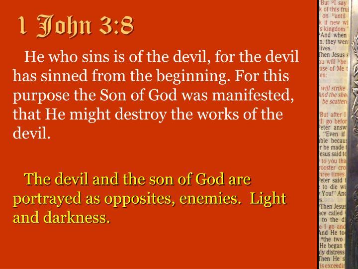 1 John 3:8
