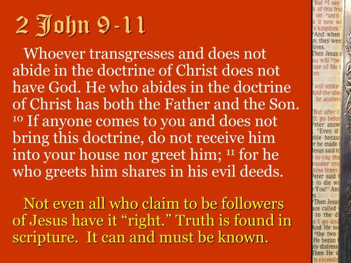 2 John 9-11