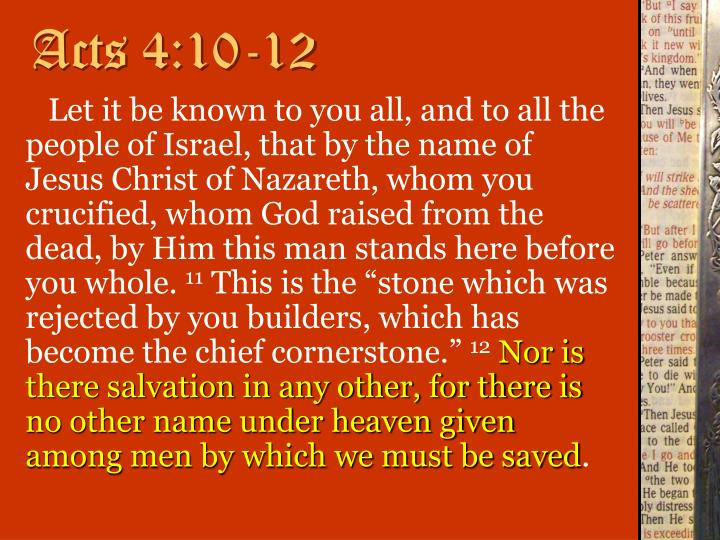 Acts 4:10-12