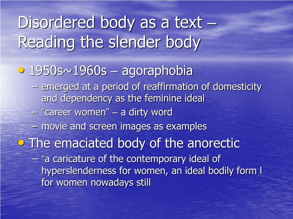 Disordered body as a text