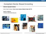 compliant sector based investing