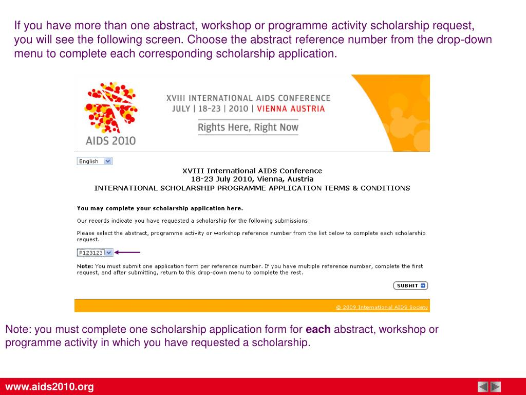 If you have more than one abstract, workshop or programme activity scholarship request,