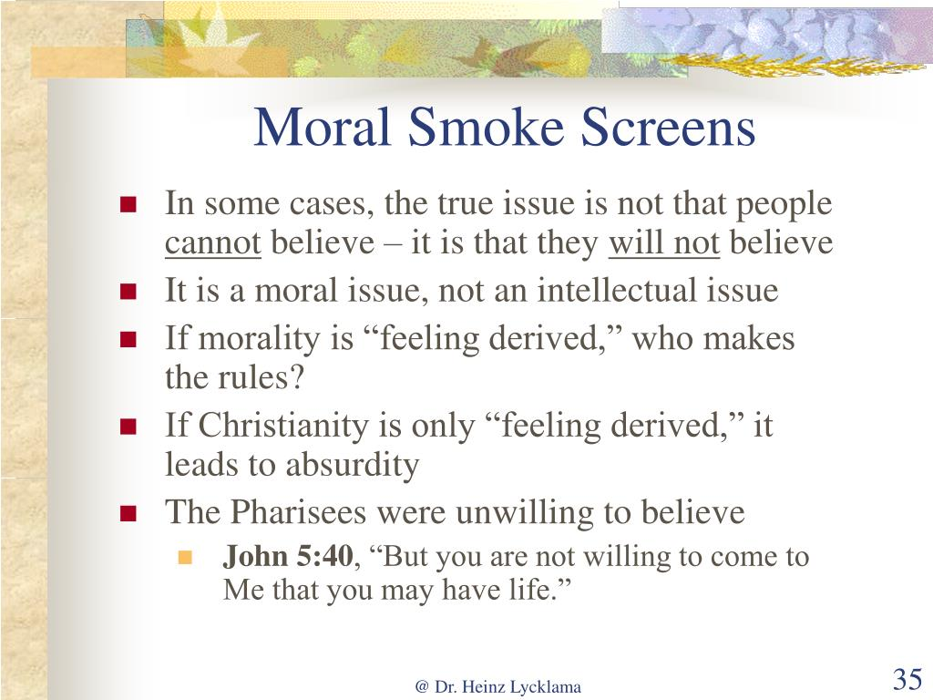 Moral Smoke Screens