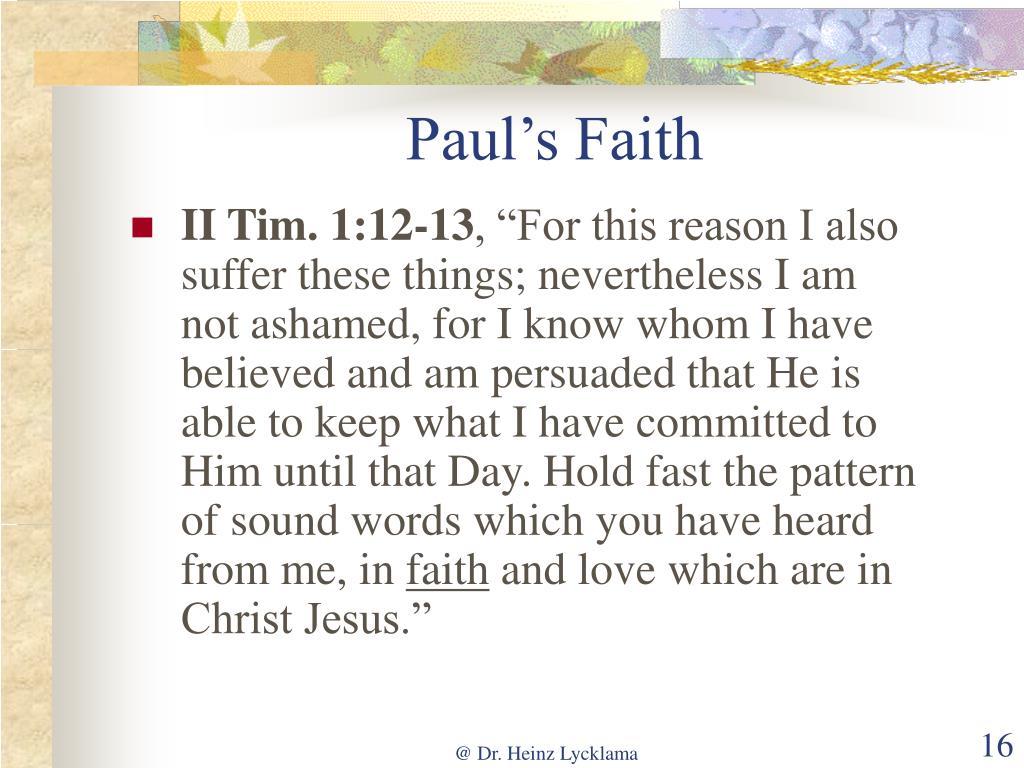 Paul's Faith