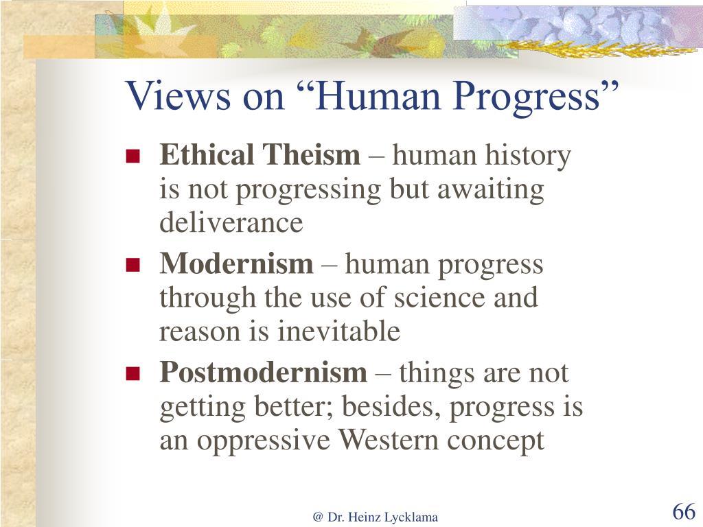 "Views on ""Human Progress"""