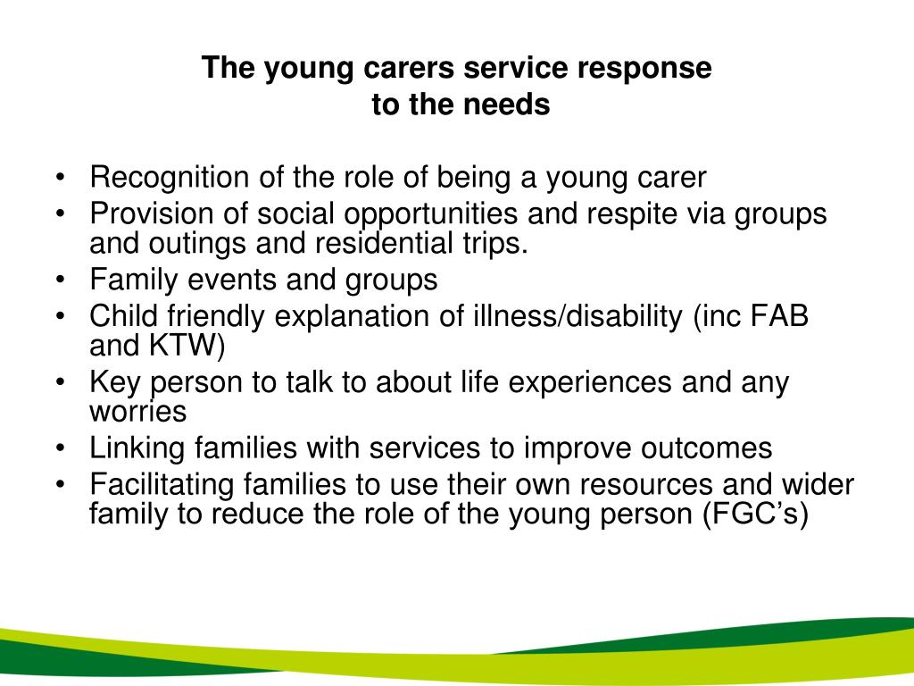 The young carers service response