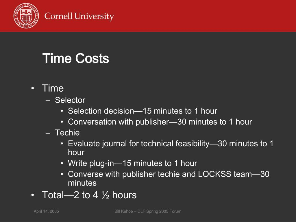 Time Costs