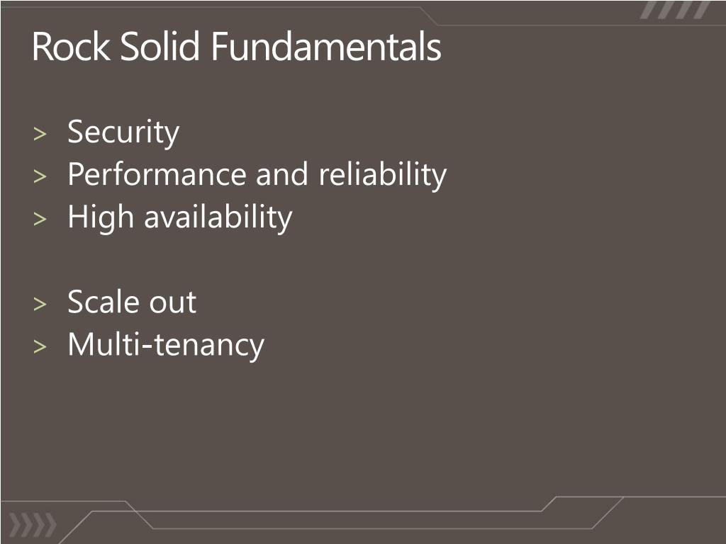 Rock Solid Fundamentals