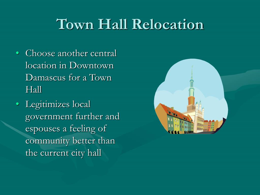 Town Hall Relocation