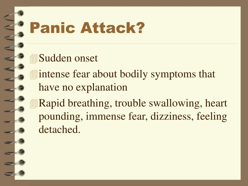 Panic Attack?