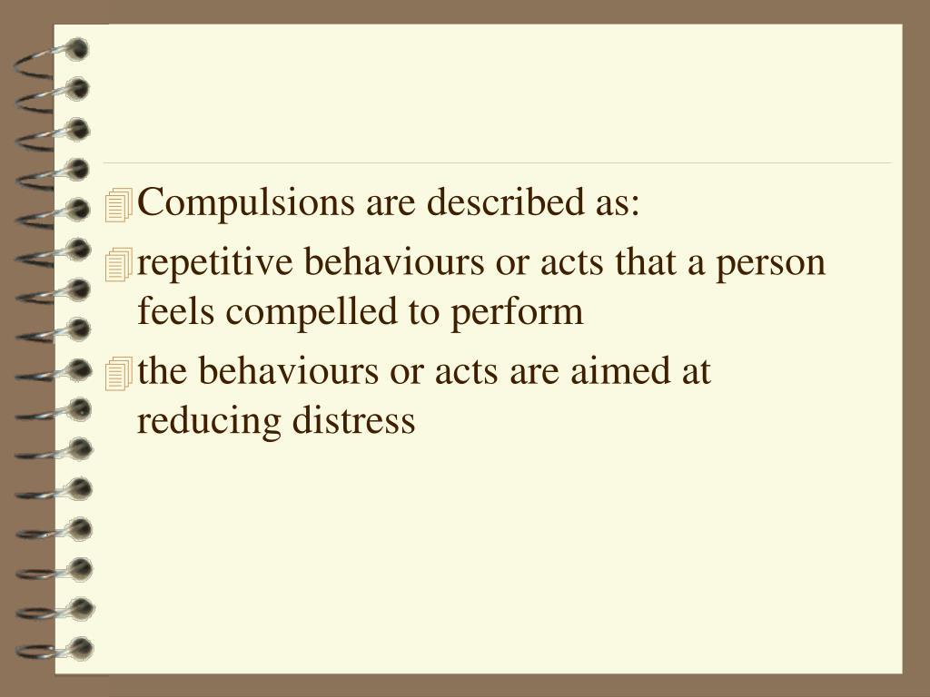 Compulsions are described as: