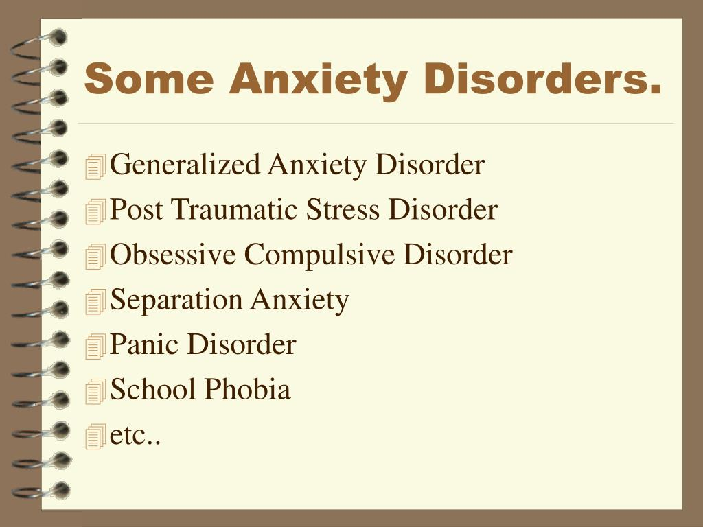 Some Anxiety Disorders.