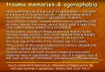 trauma memories agoraphobia