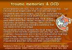 trauma memories ocd
