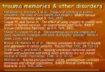 trauma memories other disorders