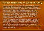 trauma memories social anxiety