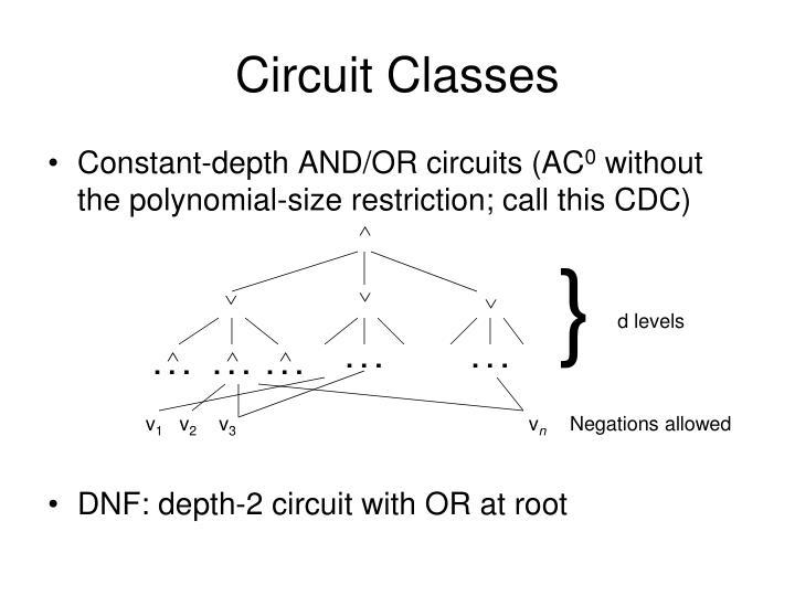 Circuit Classes