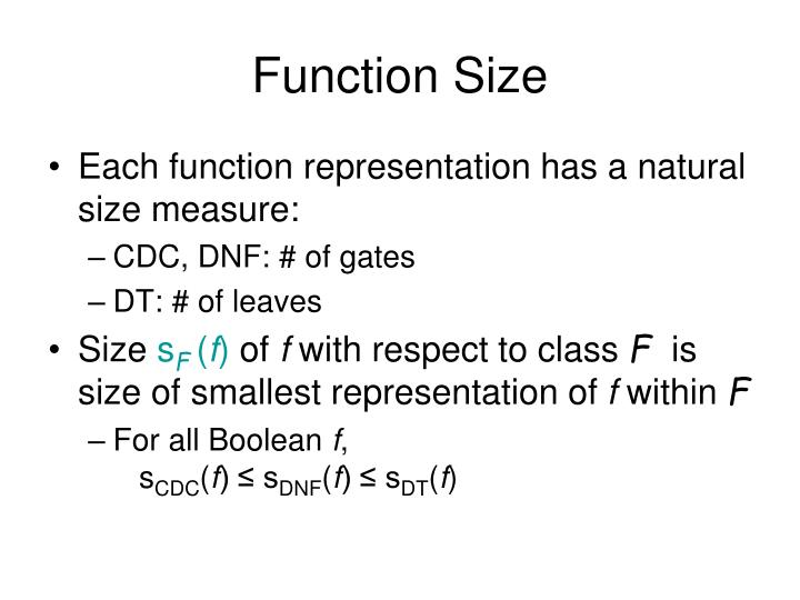 Function Size