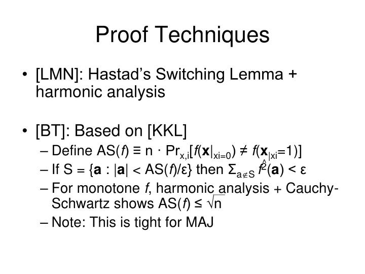 Proof Techniques