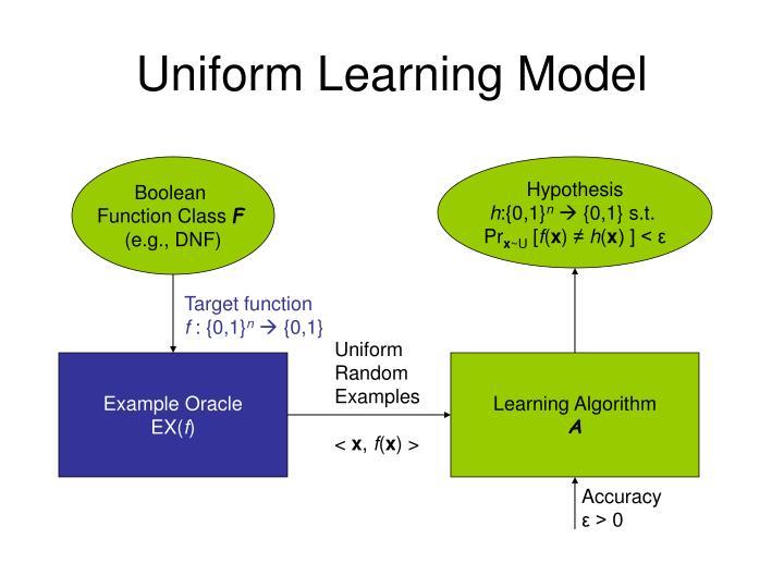 Uniform Learning Model