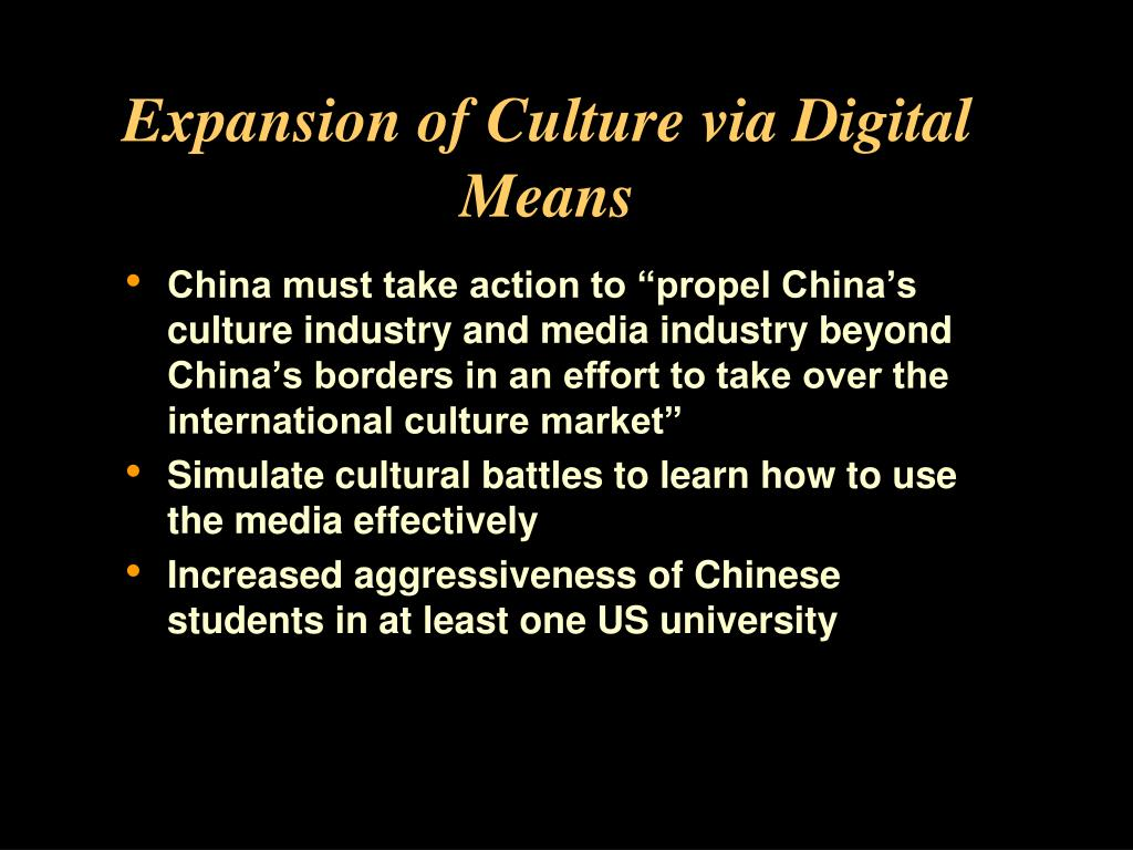Expansion of Culture via Digital Means