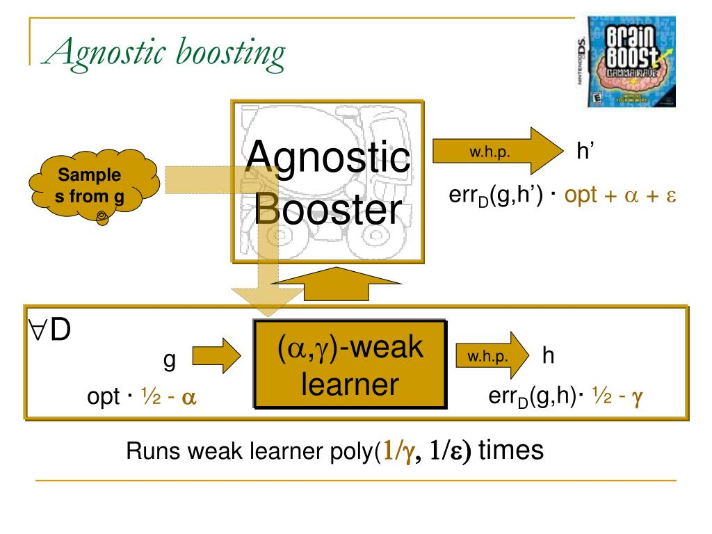 Agnostic boosting