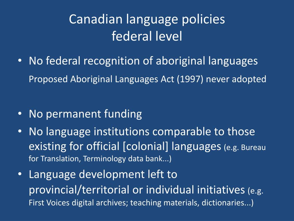 Canadian language policies