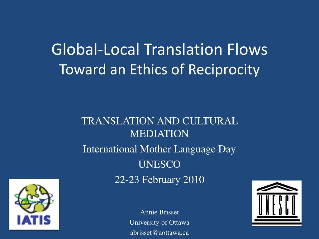 Global-Local Translation Flows