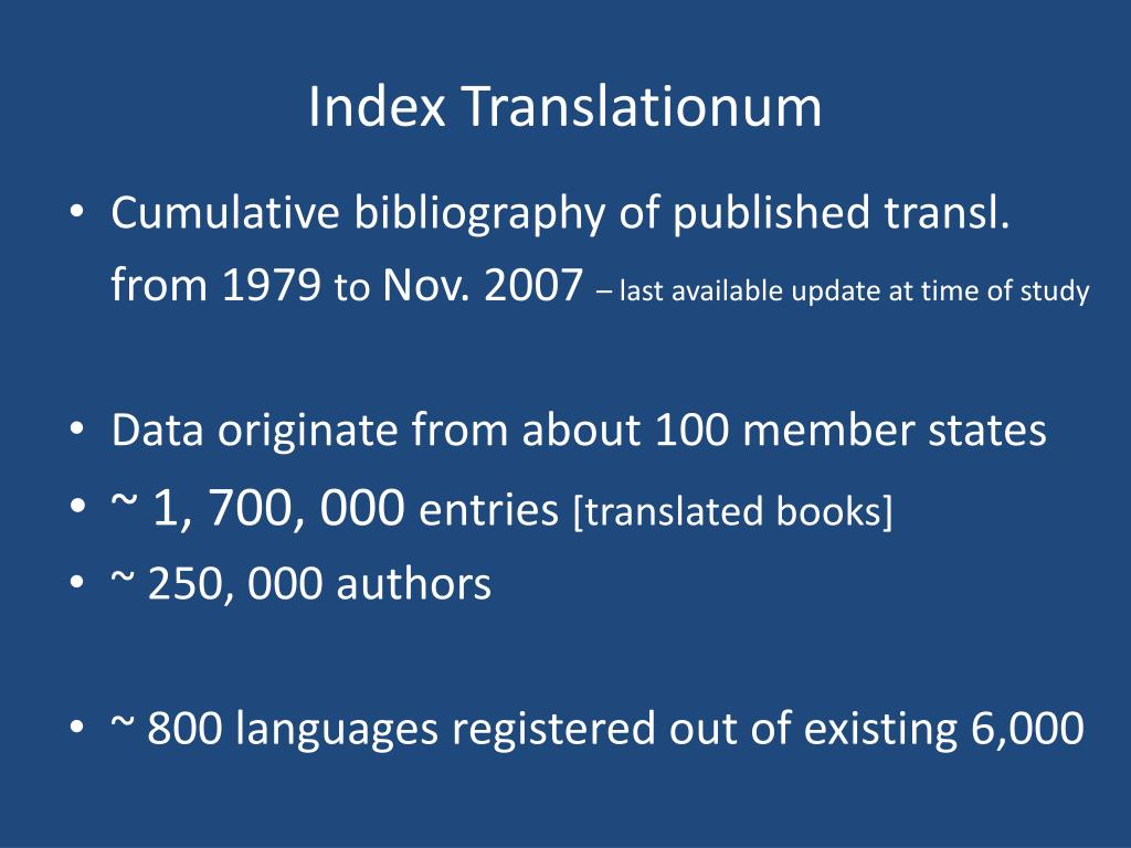 Index Translationum