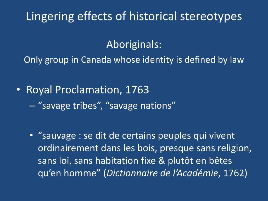 Lingering effects of historical stereotypes