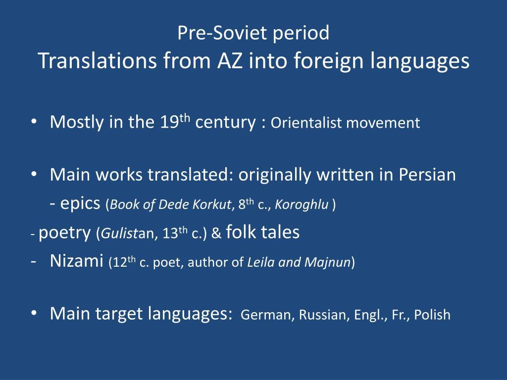 Pre-Soviet period