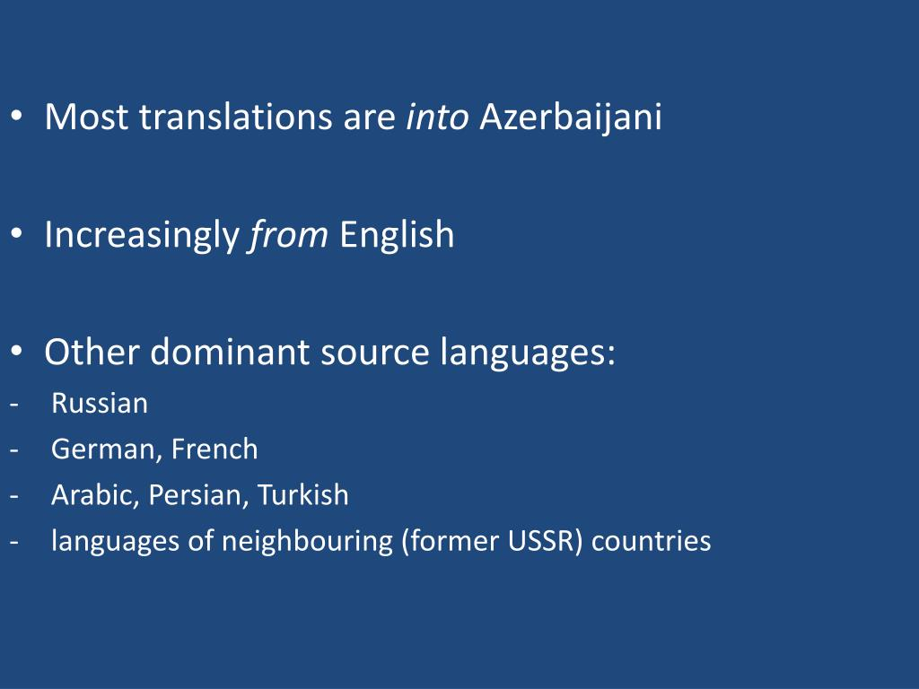 Most translations are