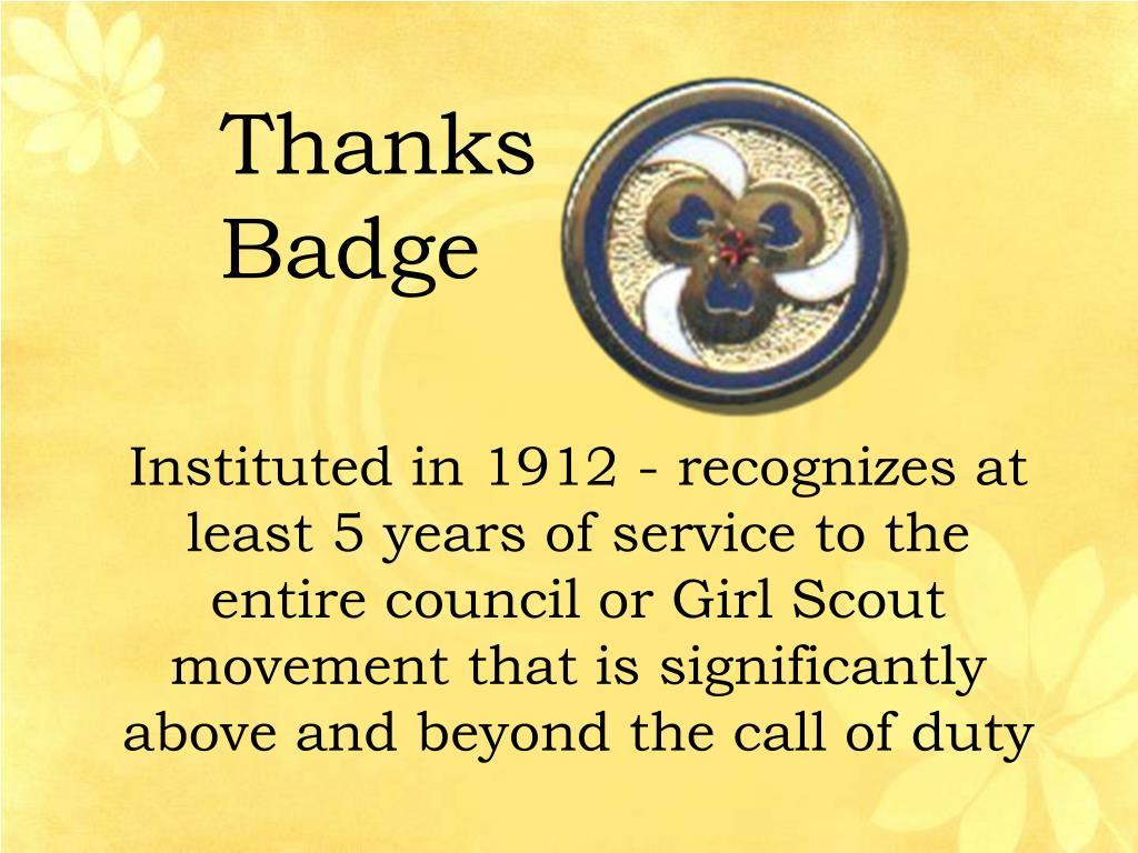 Thanks Badge