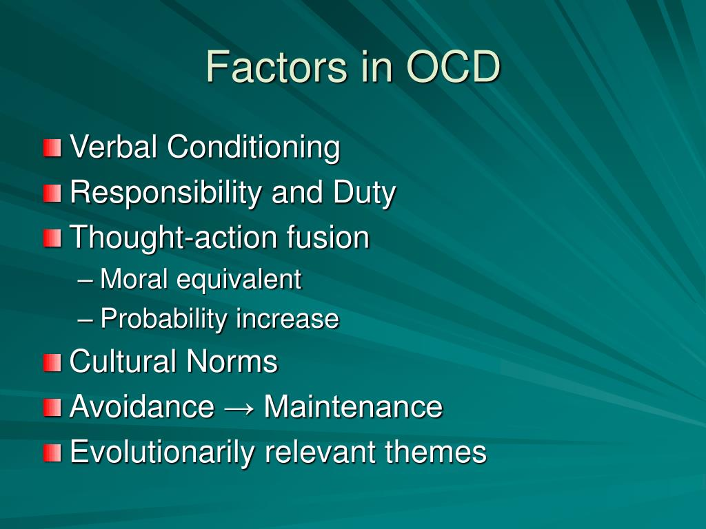 Factors in OCD