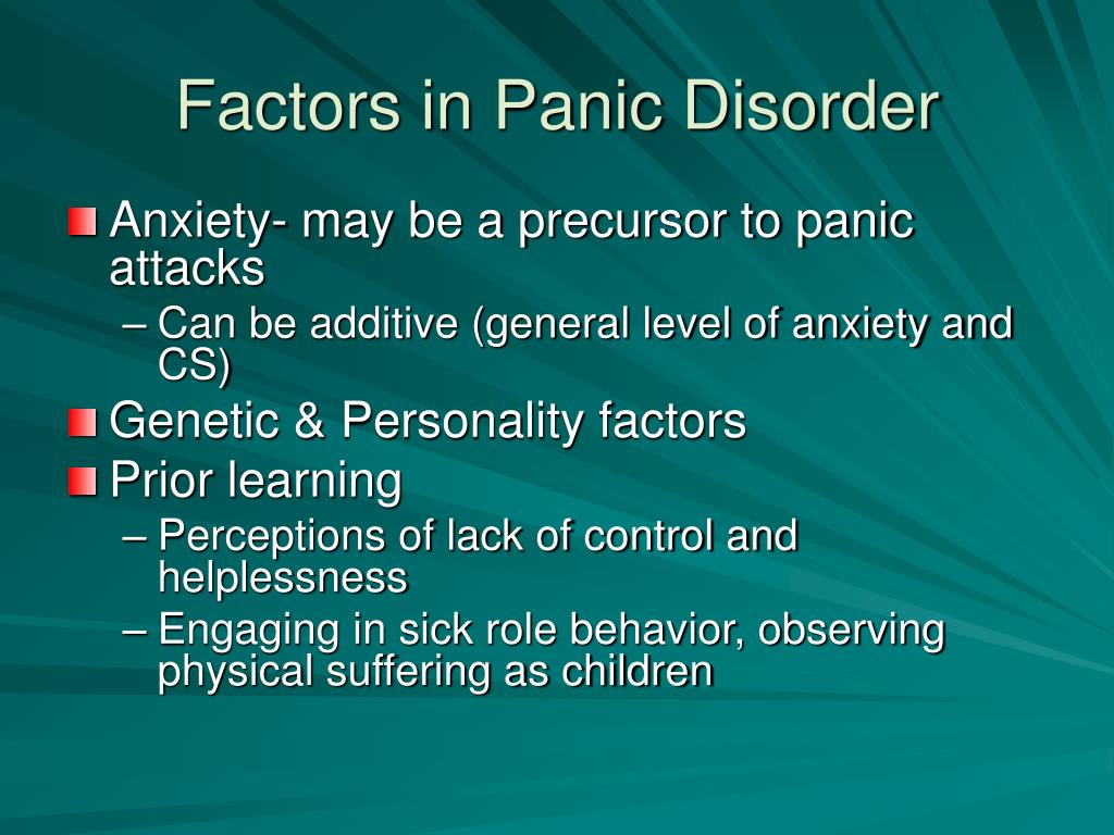 Factors in Panic Disorder